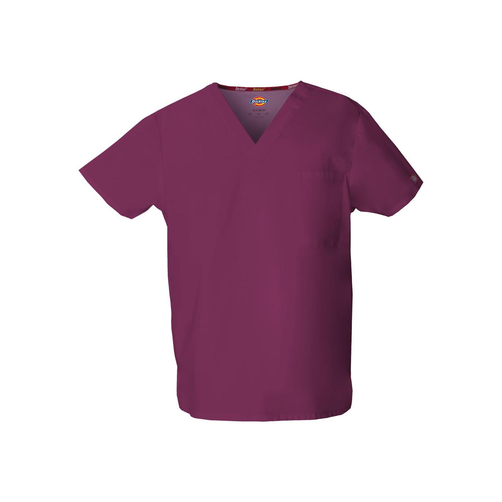 """Blouse médicale Homme, Dickies, poche cœur, Collection """"EDS signature"""" (83706), couleur bordeaux, vue produit"""