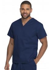 "Blouse médicale 2 poches, Homme, Dickies, Collection ""Genuine"" (GD640), couleur bleu marine vue gauche"