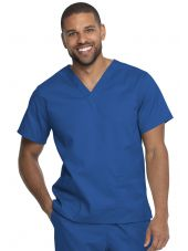 "Blouse médicale 2 poches, Homme, Dickies, Collection ""Genuine"" (GD640), couleur bleu royal vue face"