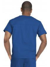 "Blouse médicale 2 poches, Homme, Dickies, Collection ""Genuine"" (GD640), couleur bleu royal vue dos"