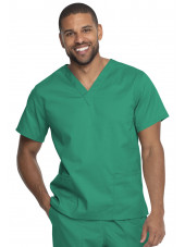 "Blouse médicale 2 poches, Homme, Dickies, Collection ""Genuine"" (GD640), couleur vert vue face"