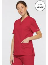 "Blouse médicale Col V Femme, Dickies, 2 poches, Collection ""EDS signature"" (86706)"