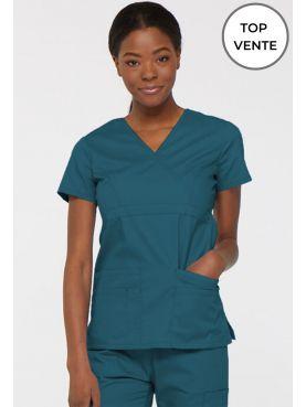 """Blouse médicale Cache Coeur Femme, Dickies, collection """"EDS signature"""" (85820), couleur caraïbe vue Top vente"""