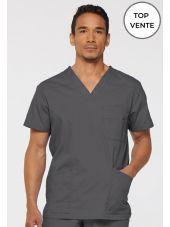 """Blouse médicale Homme, Dickies, Collection """"EDS signature"""" (81906), couleur gris vue top ventes"""