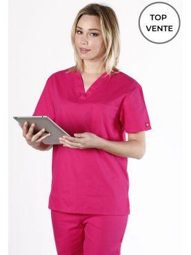 """Blouse médicale Femme, Dickies, poche cœur, Collection """"EDS signature"""" (83706), couleur fuchsia vue top vente"""