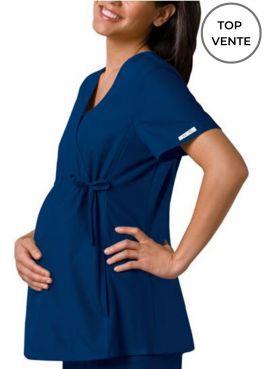 Blouse Médicale pour Femme Enceinte Cherokee (2892), couleur bleu marine vue top vente