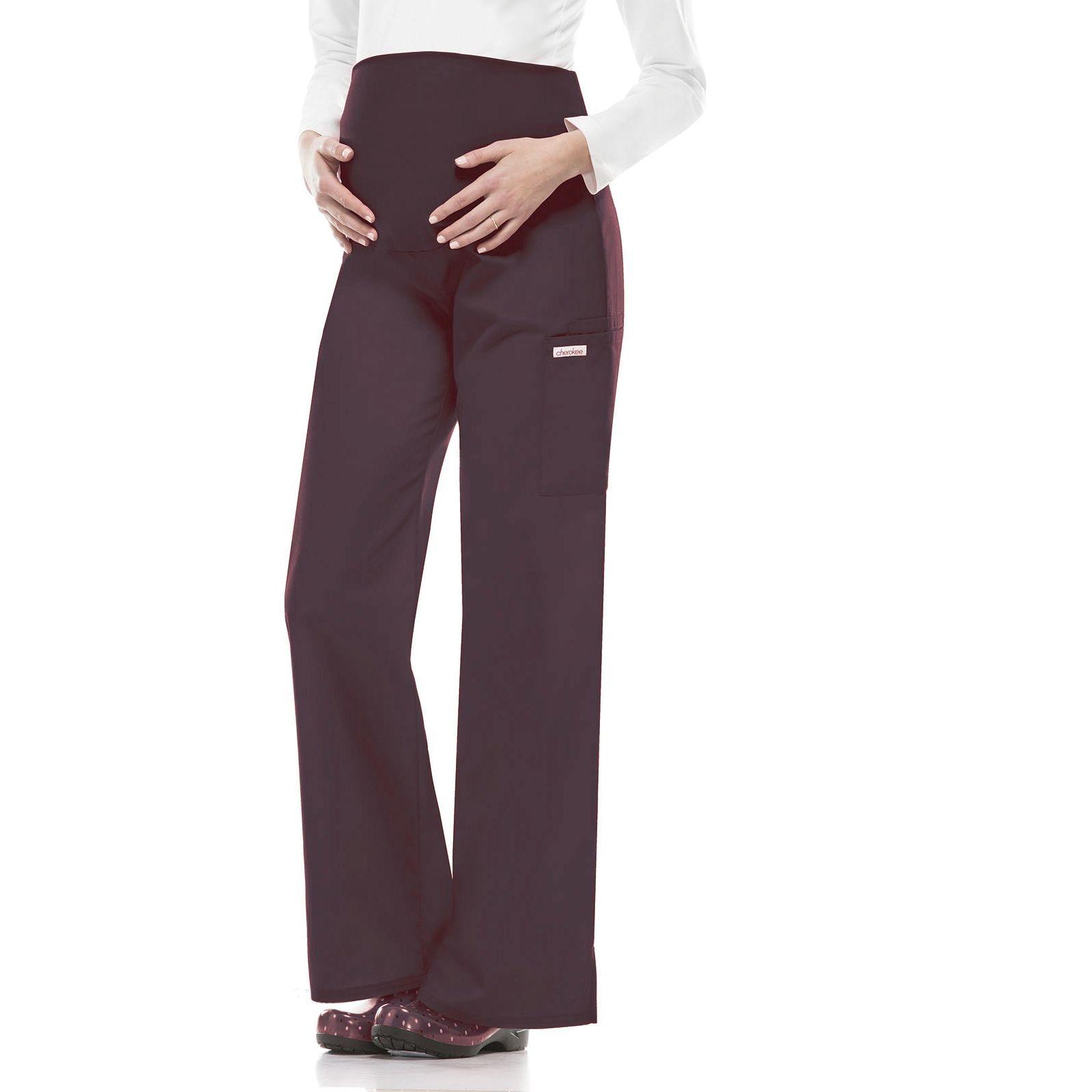 Pantalon médical Femme enceinte à élastique Cherokee (2092), couleur gris anthracite vue produit sur modèle