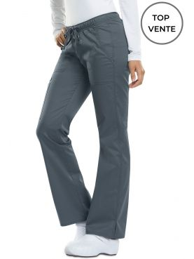 "Pantalon médical Femme Cordon, Dickies, Collection ""GenFlex"" (DK100), couleur gris anthracite vue top vente"