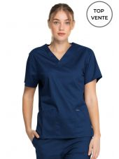 "Blouse médicale 2 poches Femme, Dickies, Collection ""Genuine"" (GD640), couleur bleu marine vue top vente"