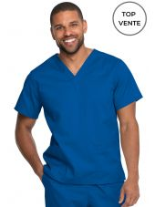 "Blouse médicale 2 poches, Homme, Dickies, Collection ""Genuine"" (GD640), couleur bleu royal vue top vente"