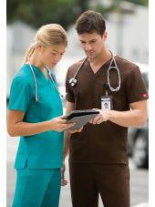 """Blouse médicale Femme, Dickies, poche cœur, Collection """"EDS signature"""" (83706), couleur turquoise vue ensemble"""
