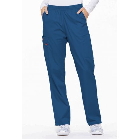 "Pantalon médical Unisexe élastique, Dickies, Collection ""EDS signature"" (86106), couleur bleu royal, vue face"