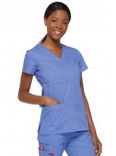 """Blouse médicale Cache Coeur Femme, Dickies, collection """"EDS signature"""" (85820), couleur bleu ciel vue coté"""