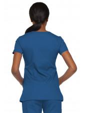 """Blouse médicale Cache Coeur Femme, Dickies, collection """"EDS signature"""" (85820), couleur bleu royal vue gauche"""