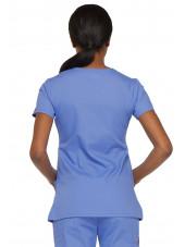 """Blouse médicale Cache Coeur Femme, Dickies, collection """"EDS signature"""" (85820), couleur bleu ciel vue dos"""