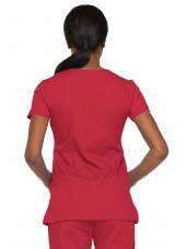 """Blouse médicale Cache Coeur Femme, Dickies, collection """"EDS signature"""" (85820), couleur rouge vue dos"""