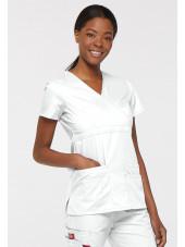 """Blouse médicale Cache Coeur Femme, Dickies, collection """"EDS signature"""" (85820), couleur blanc vue droit"""