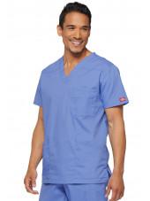 """Blouse médicale Homme, Dickies, Collection """"EDS signature"""" (81906), couleur bleu ciel vue droit"""