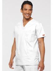 """Blouse médicale Homme, Dickies, Collection """"EDS signature"""" (81906), couleur blanc vue droit"""