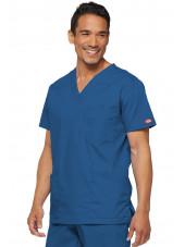 """Blouse médicale Homme, Dickies, Collection """"EDS signature"""" (81906), couleur bleu royal vue coté"""