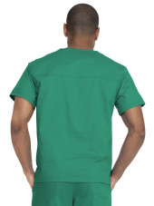 "Blouse médicale 2 poches, Homme, Dickies, Collection ""Genuine"" (GD640), couleur vert vue dos"