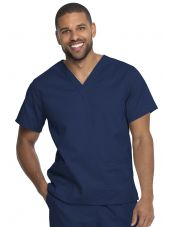 "Blouse médicale 2 poches, Homme, Dickies, Collection ""Genuine"" (GD640), couleur bleu marine vue face"