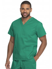 "Blouse médicale 2 poches, Homme, Dickies, Collection ""Genuine"" (GD640), couleur vert vue gauche"
