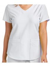 """Blouse médicale femme, couleur blanc vue détail, collection """"Skechers"""" (SK101-)"""