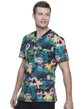 "Blouse médicale imprimée ""Bungle In The Jungle"", Collection Tooniforms Disney (TF725)"
