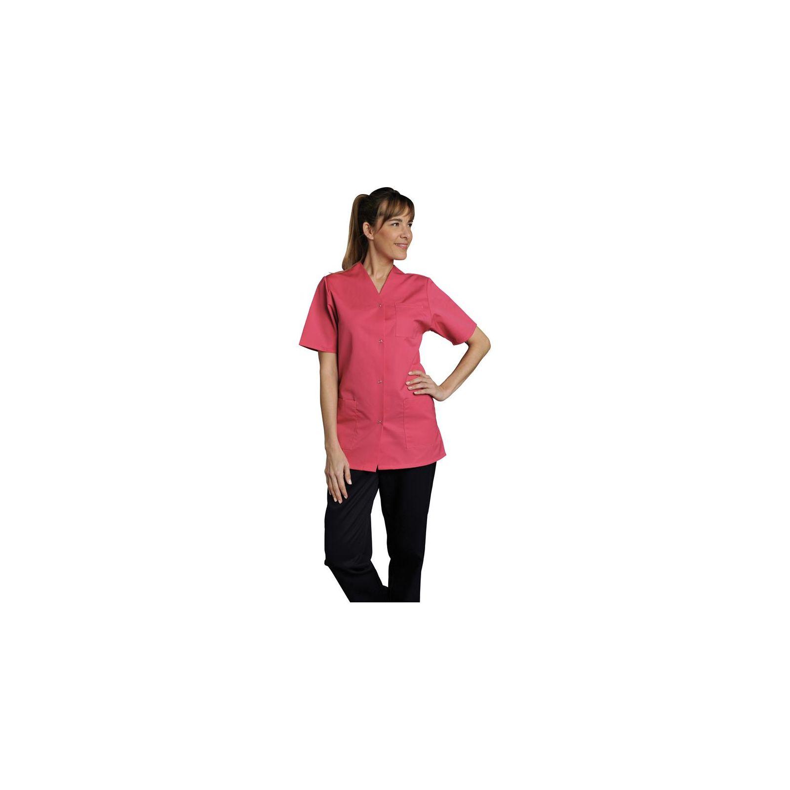 Blouse de travail Femme couleur Col V Viviane, SNV (VIVMCP00), couleur rose vue modèle