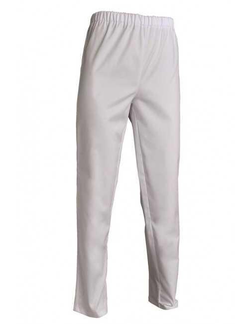 Pantalon médical blanc Poly/Coton Unisexe, SNV (ADLX00000)