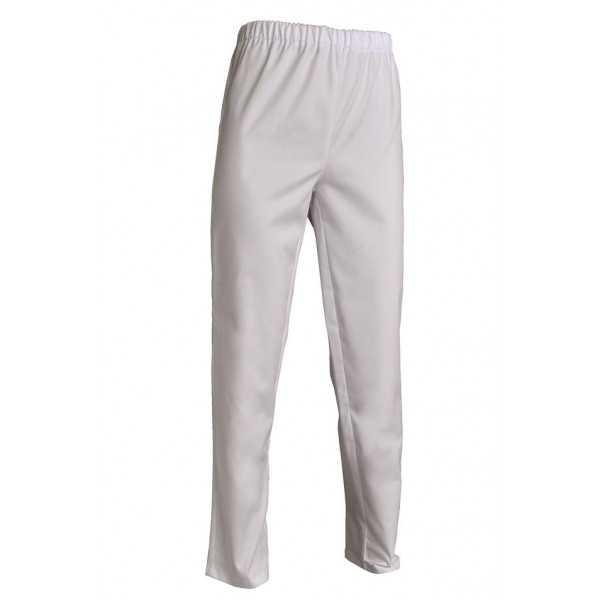 Pantalon médical blanc Poly/Coton Unisexe, SNV (ADLX00000) couleur blanc poly/coton face