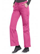 Pantalon médical Femme cordon et élastique, Cherokee Workwear Originals (4020), couleur rose vue coté gauche