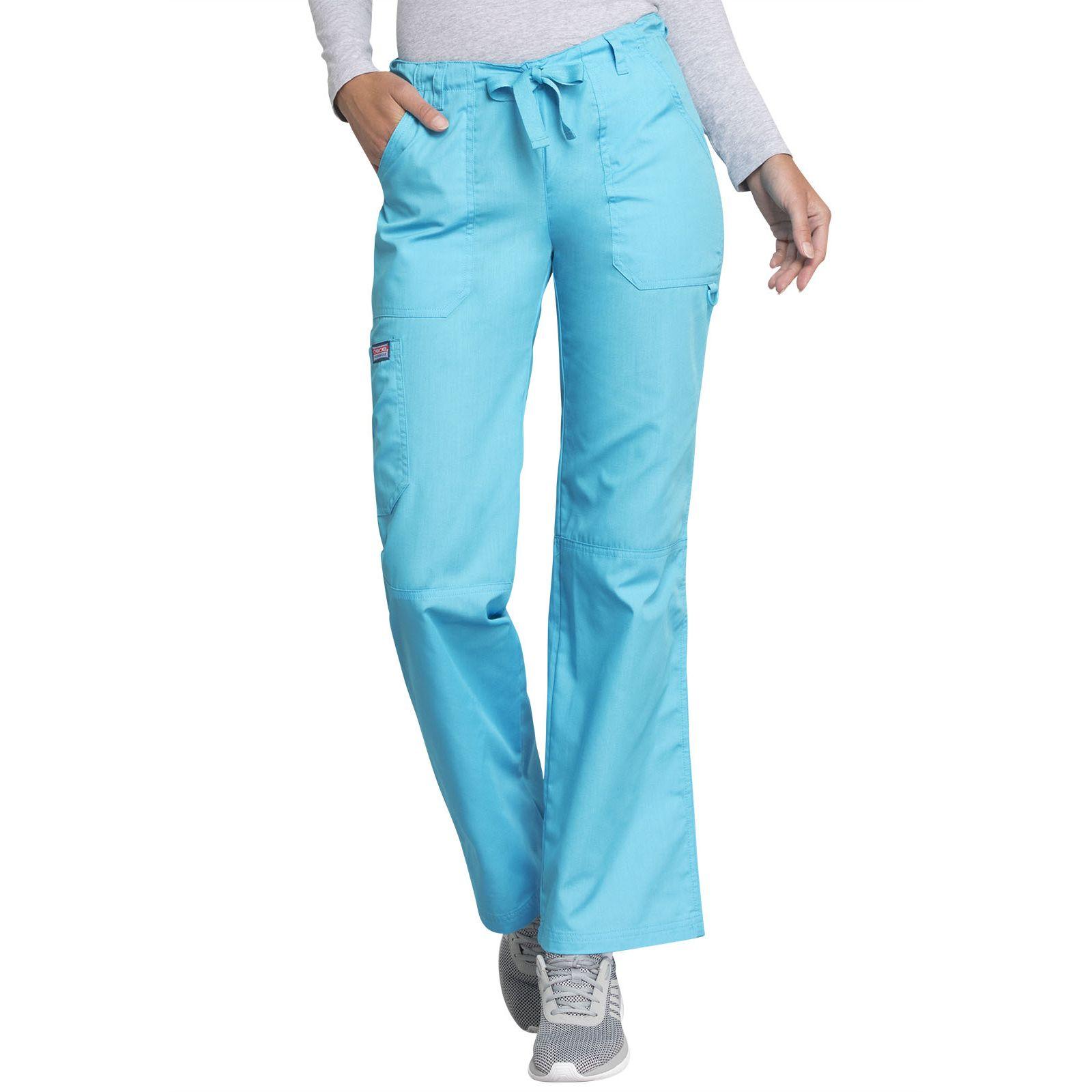 Pantalon médical Femme cordon et élastique, Cherokee Workwear Originals (4020), couleur turquoise vue face