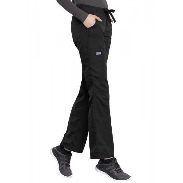 Pantalon médical Femme cordon et élastique, Cherokee Workwear Originals (4020), couleur noir vue coté droit