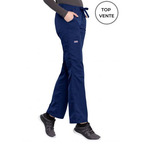 Pantalon médical Femme cordon et élastique, Cherokee Workwear Originals (4020) top vente