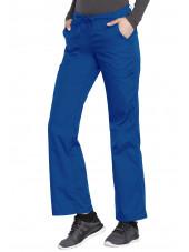 Pantalon médical Femme cordon et élastique, Cherokee Workwear Originals (4020), couleur bleu royal vue coté gauche