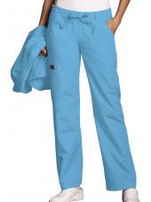 Pantalon médical Femme cordon et élastique, Cherokee Workwear Originals (4020), couleur malibu