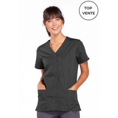 Blouse médicale Femme boutons pression, Cherokee Workwear Originals (4770) top vente