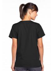 Blouse médicale Femme boutons pression, Cherokee Workwear Originals (4770), couleur noir vue dos