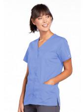 Blouse médicale Femme boutons pression, Cherokee Workwear Originals (4770), couleur bleu ciel vue droit