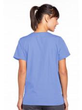 Blouse médicale Femme boutons pression, Cherokee Workwear Originals (4770), couleur bleu ciel vue dos