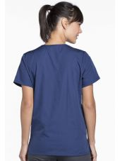 Blouse médicale Femme boutons pression, Cherokee Workwear Originals (4770), couleur bleu marine vue dos