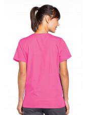 Blouse médicale Femme boutons pression, Cherokee Workwear Originals (4770), couleur rose vue dos