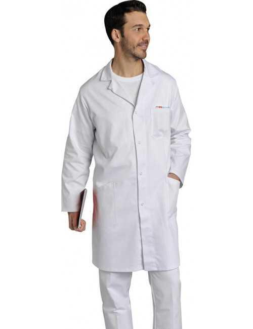 Blouse médicale longue, Homme manches longues, SNV (JULLP004)