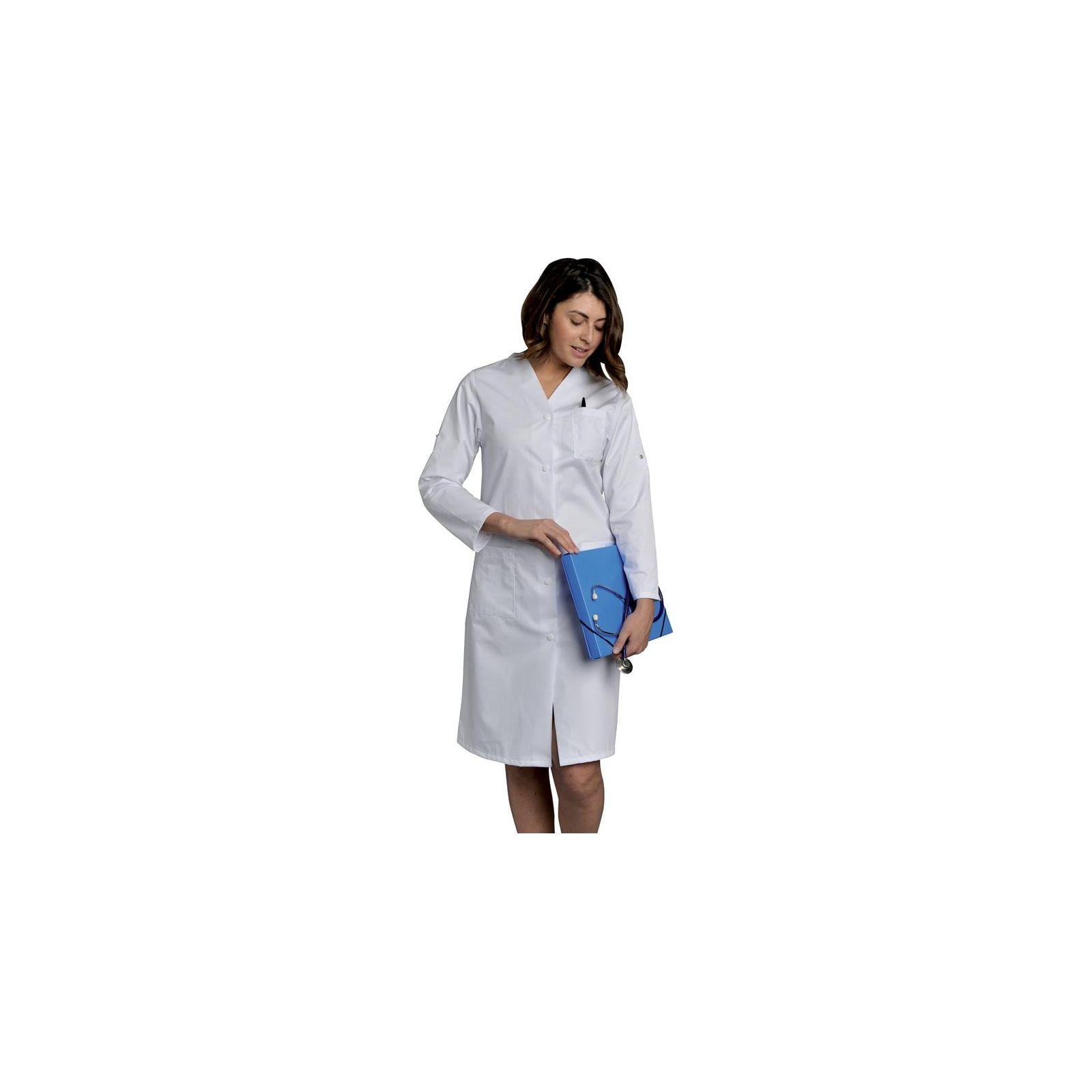 Blouse médicale longue, Femme manches longues, SNV (JULRM000) vue modele