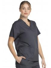 """Blouse médicale 2 poches Femme, Dickies, Collection """"Genuine"""" (GD640) couleur gris vue gauche"""