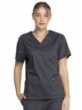 "Blouse médicale 2 poches Femme, Dickies, Collection ""Genuine"" (GD640) couleur gris vue face"