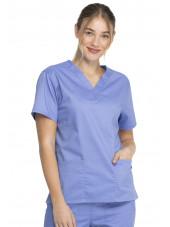 """Blouse médicale 2 poches Femme, Dickies, Collection """"Genuine"""" (GD640) couleur bleu ciel vue face"""