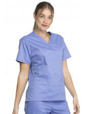 """Blouse médicale 2 poches Femme, Dickies, Collection """"Genuine"""" (GD640) couleur bleu ciel vue droite"""